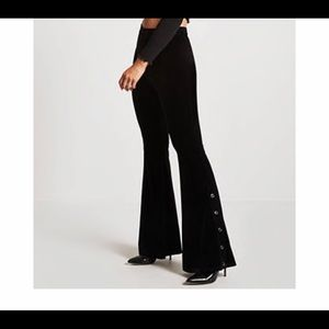 Black bell bottoms.